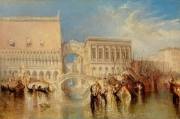 William Turner: Venedig, die Seufzerbrücke (Venice, the Bridge of Sighs), 1840